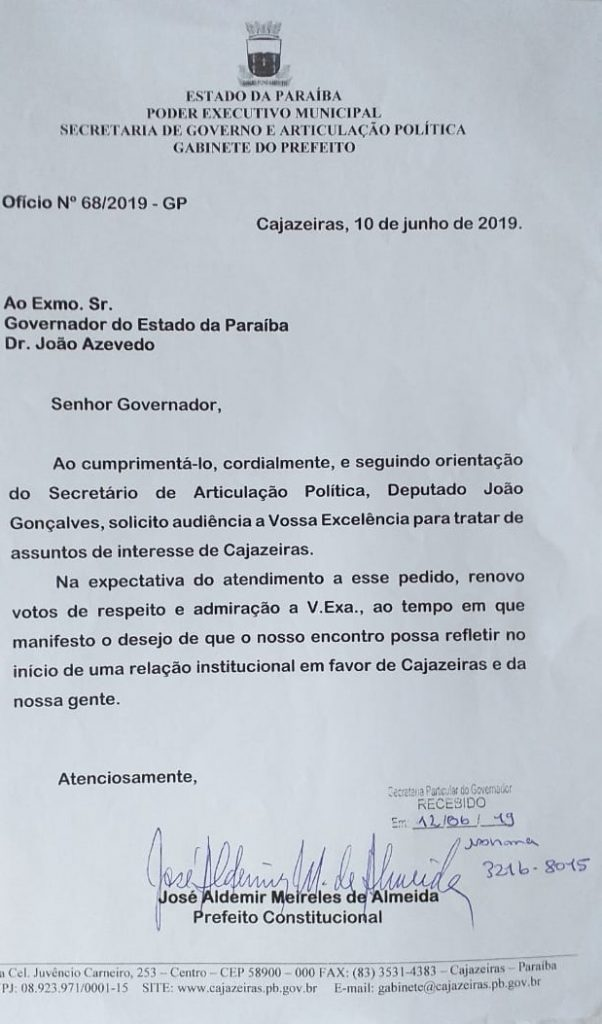 oficio pedido audiencia